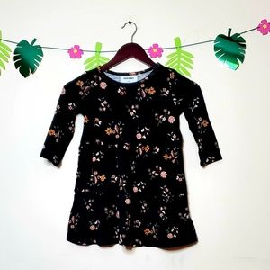 Old Navy Long Sleeve Floral Girls Dress